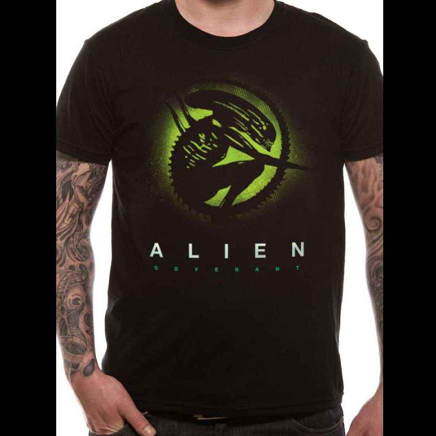 ALIEN COVENANT - SILLOUETTE - UNISEX T-SHIRT - BLACK