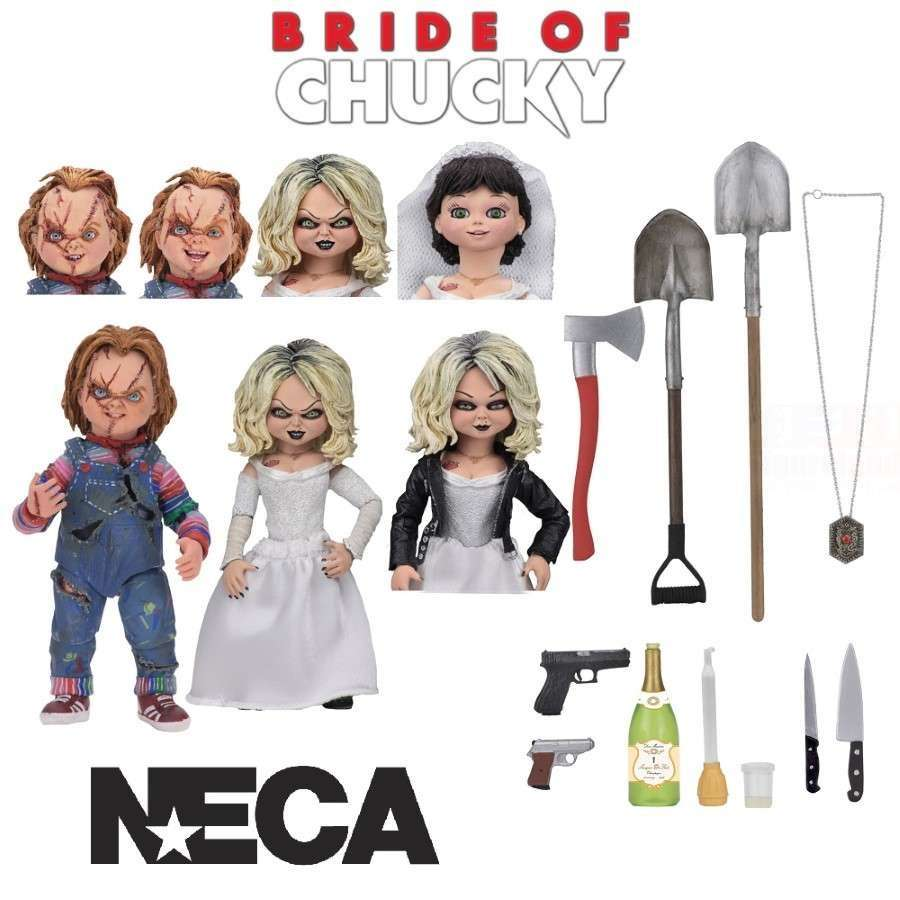 BRIDE OF CHUCKY ULTIMATE CHUCKY & TIFFANY ACTION FIGURE 2 PACK FROM NECA