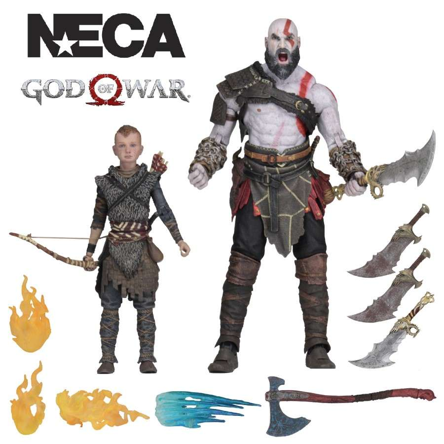 "GOD OF WAR (2018) ULTIMATE KRATOS AND ATREUS 7"" SCALE ACTION FIGURES 2 PACK FROM NECA"