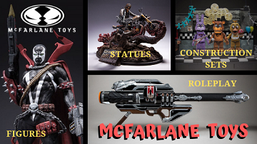 Mcfarlane Toys action figures, toys and props