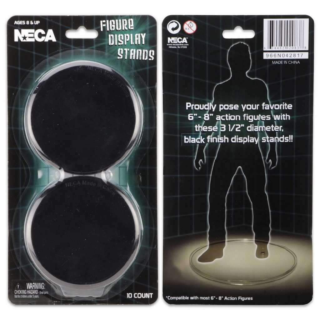Neca Action Figure Display Stands Black New 10 pack