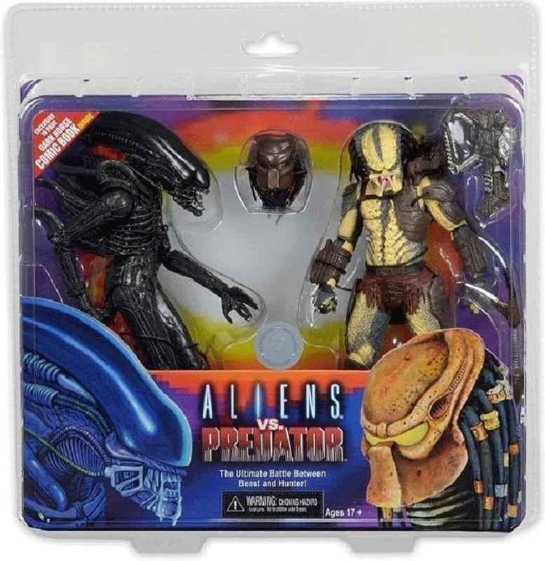 alien vs predator exclusive 7 action figures 2 pack with mini comic from neca