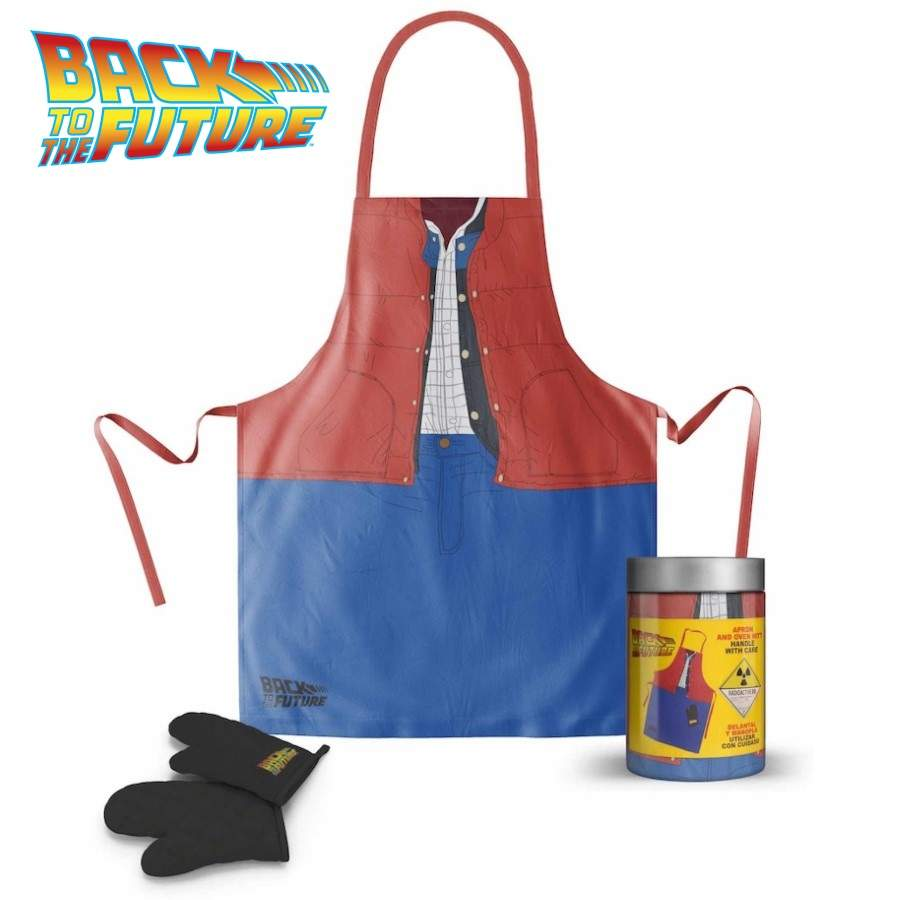 BACK TO THE FUTURE MARTY MCFLY APRON AND OVEN MITT SET FROM SD TOYS