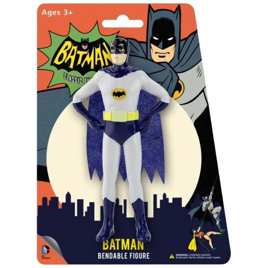BATMAN 1966 CLASSIC  TV SERIES BATMAN BENDABLE FIGURE FROM NJ CROCE
