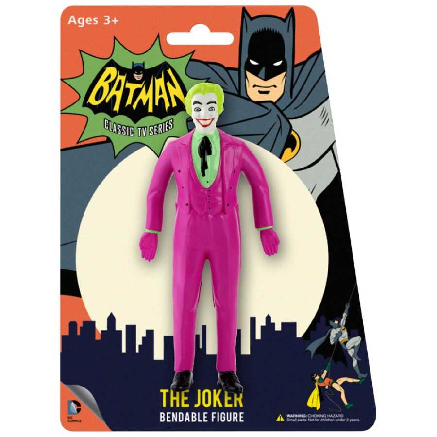 BATMAN 1966 CLASSIC  TV SERIES THE  JOKER BENDABLE FIGURE FROM NJ CROCE