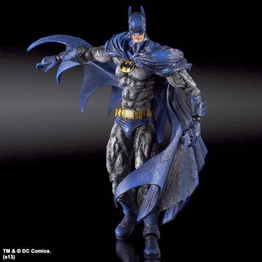 BATMAN ARKHAM CITY PLAY ARTS KAI BATMAN 1970s BATSUIT SKIN FROM SQUARE ENIX