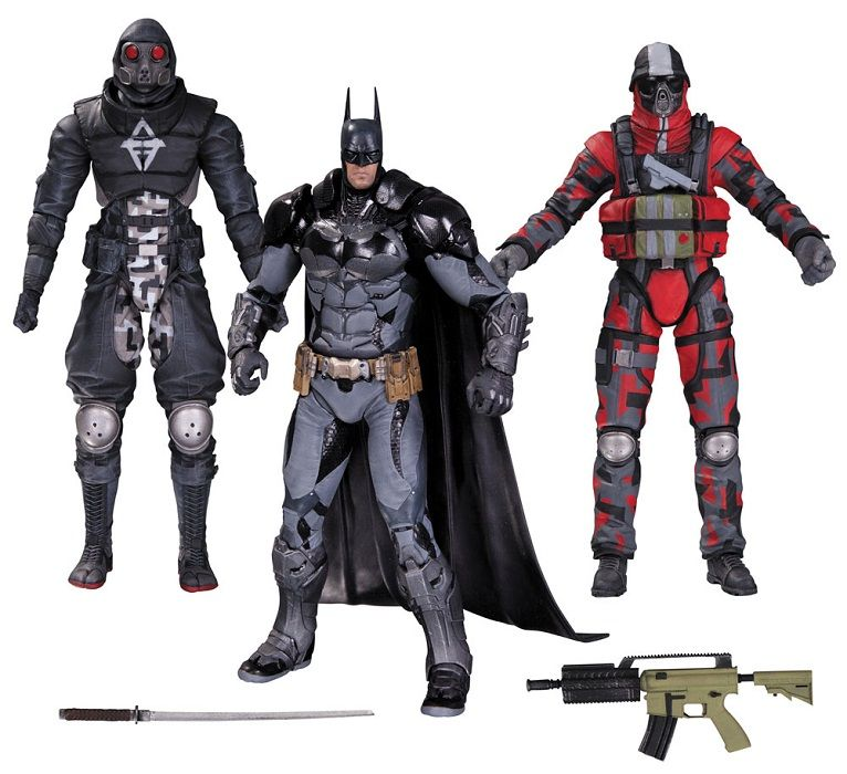 Batman Arkham Knight And Thugs Action Figures 3 Pack By Dc
