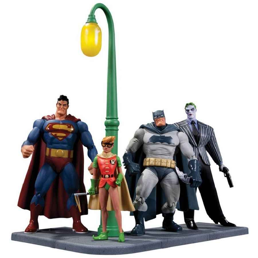 BATMAN THE DARK KNIGHT RETURNS ACTION FIGURE 4 PACK FROM DC COMICS