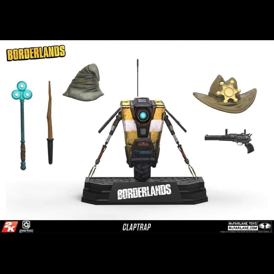 BORDERLANDS CLAPTRAP DELUXE BOX SET ACTION FIGURE FROM MCFARLANE TOYS