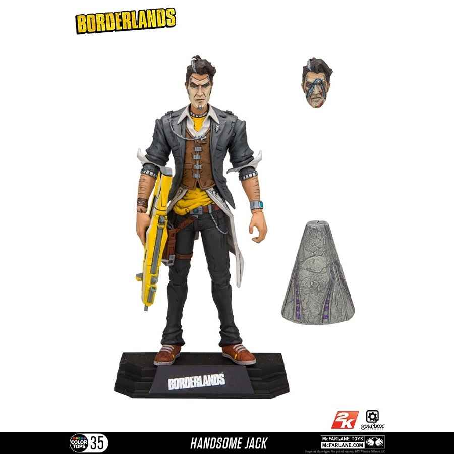 "BORDERLANDS HANDSOME JACK 7"" SCALE ACTION FIGURE FROM MCFARLANE TOYS"