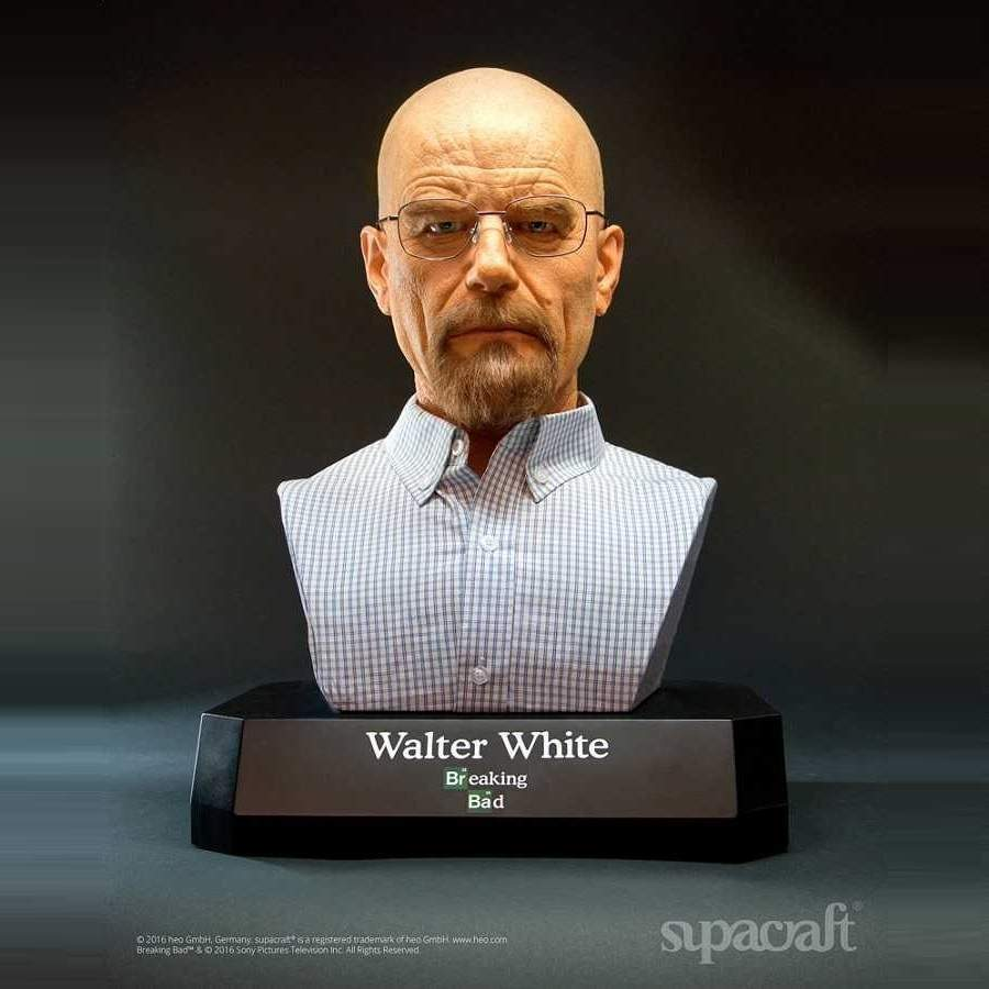 BREAKING BAD WALTER WHITE LIMITED EDITION LIFE-SIZE BUST BY SUPACRAFT (DAMAGED PACKAGING)