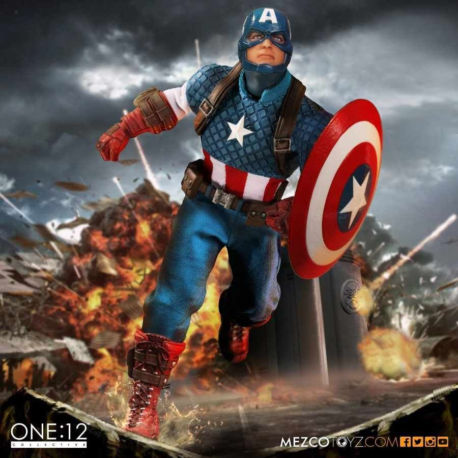 CAPTAIN AMERICA ONE:12 COLLECTIVE ACTION FIGURE FROM MEZCO TOYZ