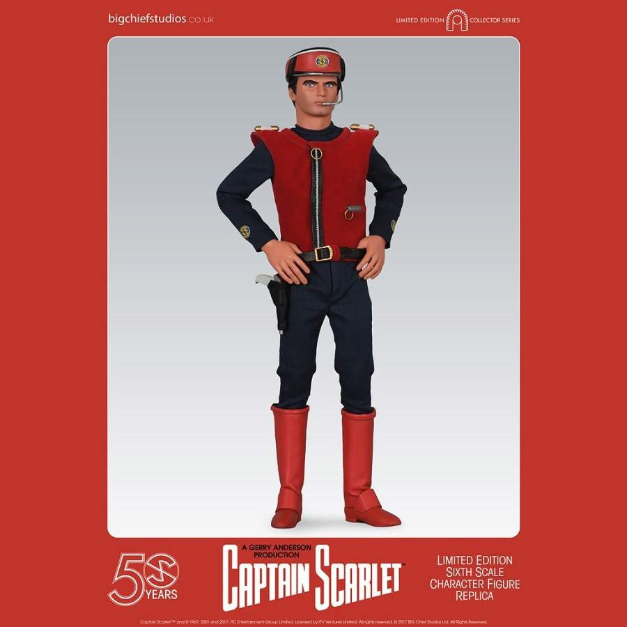 CAPTAIN SCARLET 1:6 SCALE LIMITED EDITION CHARACTER REPLICA FIGURE FROM BIG CHIEF STUDIOS
