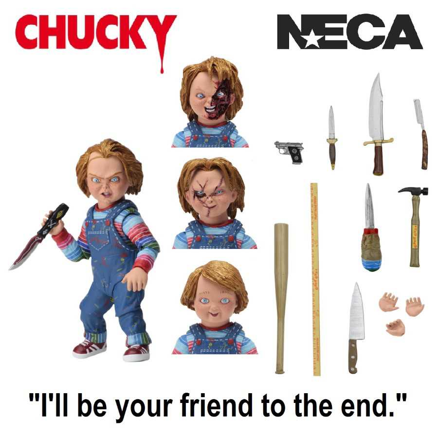 "CHILD'S PLAY ULTIMATE CHUCKY 4"" ACTION FIGURE FROM NECA"
