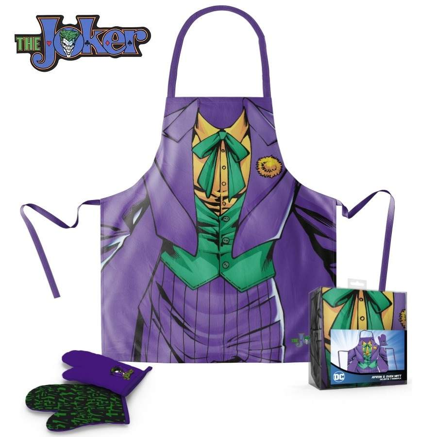 DC COMICS JOKER APRON AND OVEN MITT SET FROM SD TOYS