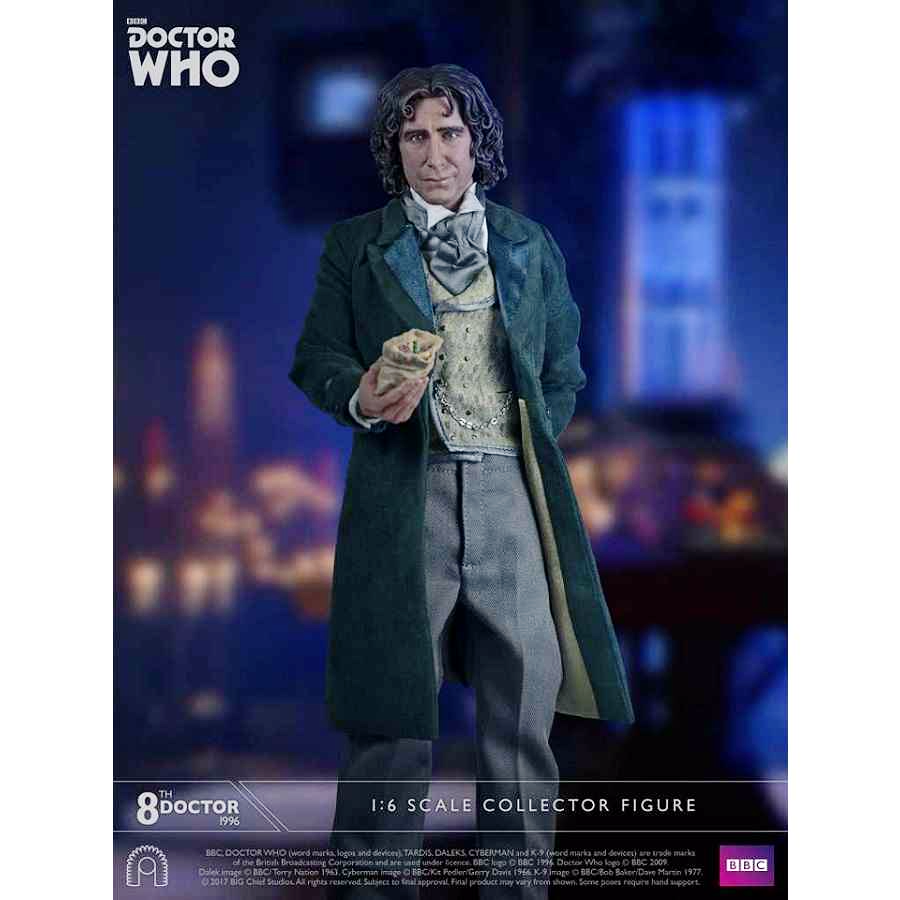 DOCTOR WHO 8TH DOCTOR 1:6 SCALE COLLECTOR FIGURE FROM BIG CHIEF STUDIOS