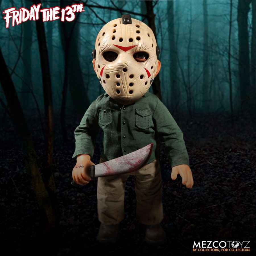 "FRIDAY THE 13TH 15"" MEGA SCALE JASON VOORHEES FIGURE WITH SOUND FROM MEZCO TOYZ"