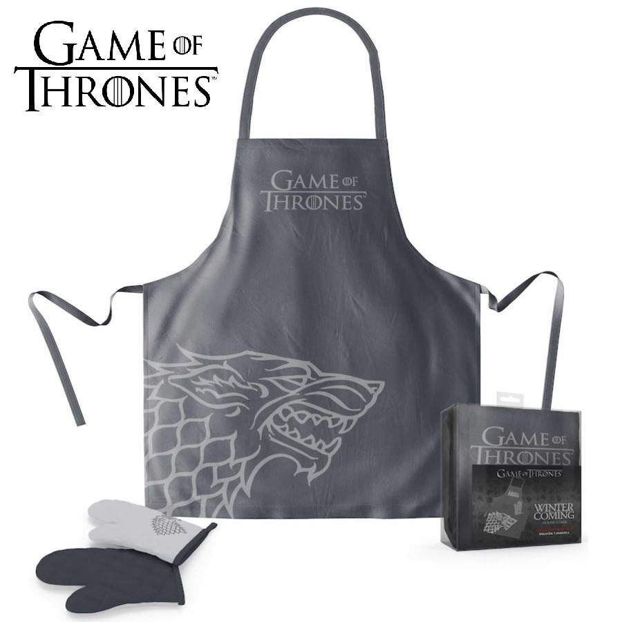GAME OF THRONES STARK APRON AND OVEN MITT SET FROM SD TOYS