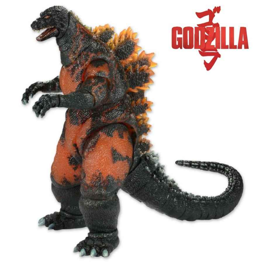 "GODZILLA 12"" HEAD TO TAIL 1995 CLASSIC BURNING GODZILLA ACTION FIGURE FROM NECA"
