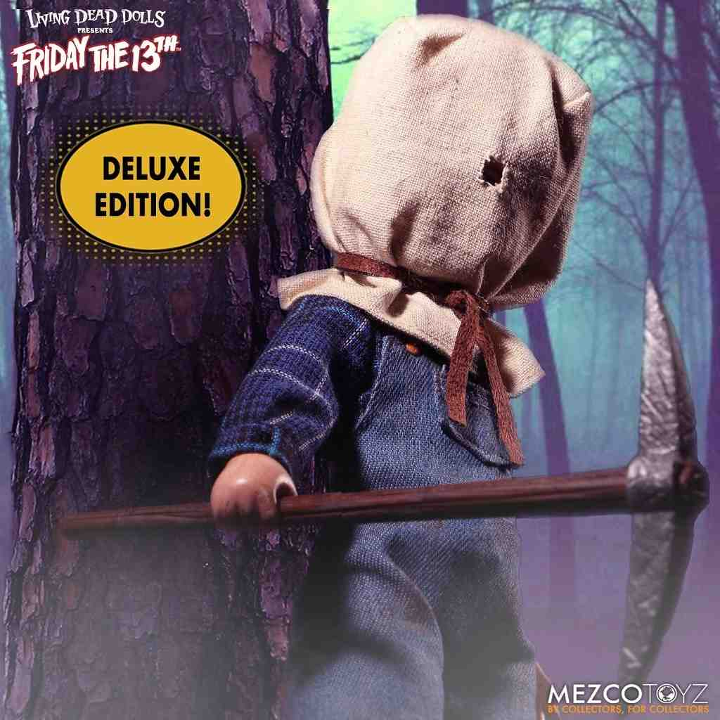 "Mezco Living Dead Dolls JASON VOORHEES 10/"" Doll Friday The 13Th Part 2 DLX ED"