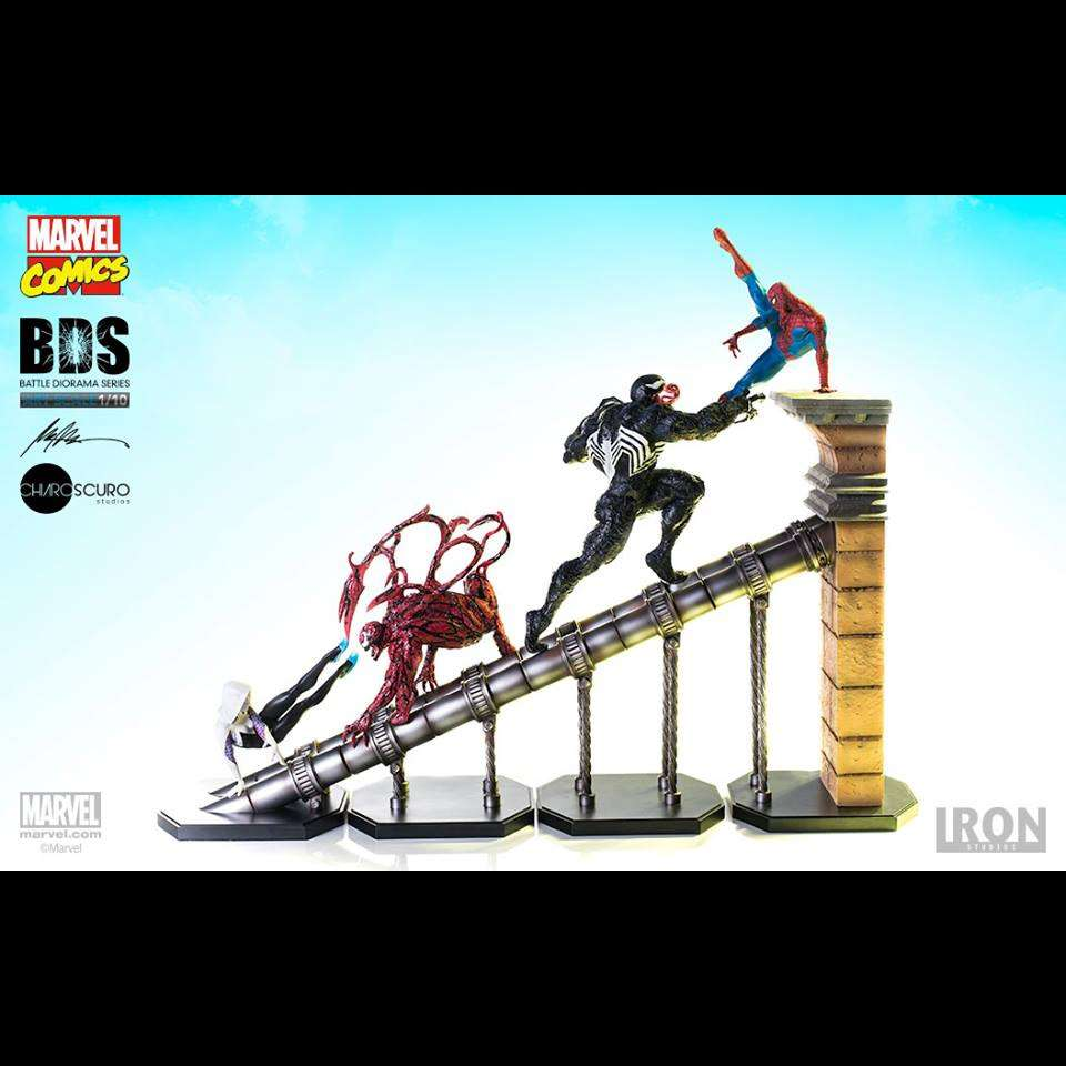 MARVEL COMICS BATTLE DIORAMA SERIES FULL SET 1:10 ART SCALE STATUES FROM IRON STUDIOS