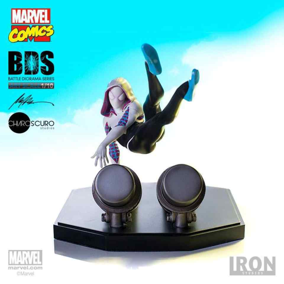 MARVEL COMICS BATTLE DIORAMA SERIES SPIDER-GWEN 1:10 ART SCALE STATUE FROM IRON STUDIOS
