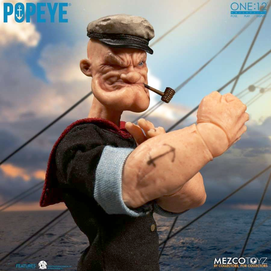 POPEYE THE SAILOR ONE:12 COLLECTIVE ACTION FIGURE FROM MEZCO TOYZ