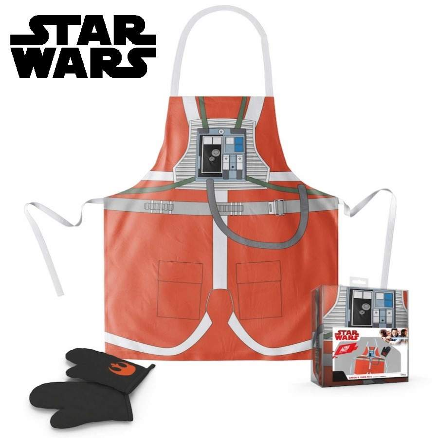 STAR WARS LUKE SKYWALKER PILOT EDITION APRON AND OVEN MITT SET FROM SD TOYS