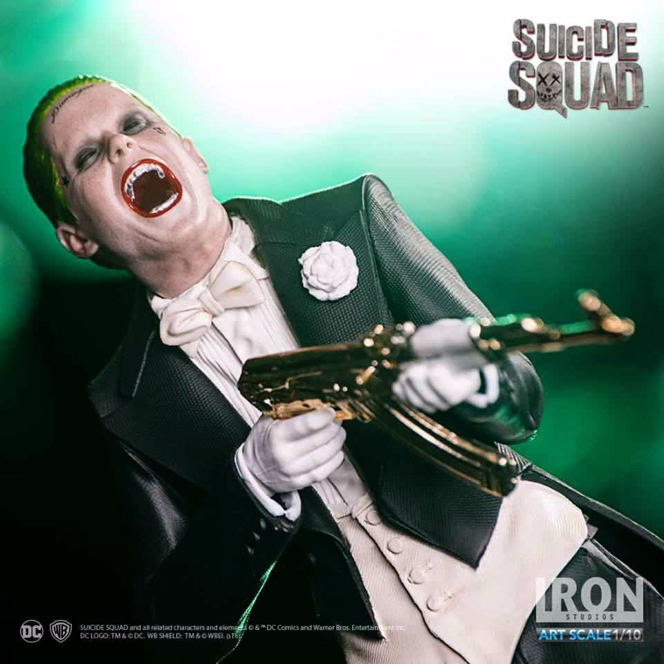 SUICIDE SQUAD JOKER 1:10 ART SCALE STATUE FROM IRON STUDIOS
