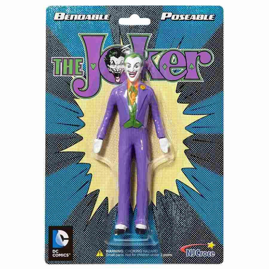 THE  JOKER CLASSIC BENDABLE FIGURE FROM NJ CROCE