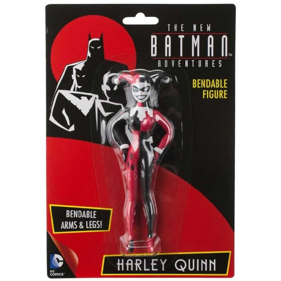 THE NEW BATMAN ADVENTURES HARLEY QUINN BENDABLE FIGURE FROM NJ CROCE