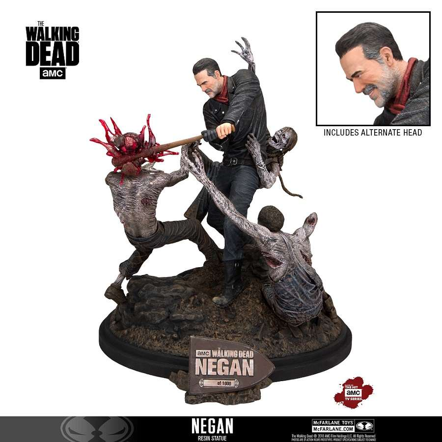 THE WALKING DEAD TV NEGAN VERSION 2 RESIN STATUE FROM MCFARLANE TOYS